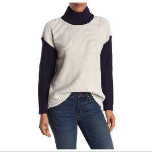 NEW Devotion Cyrus Colorblock Turtleneck Sweater